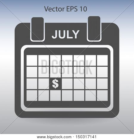 date of receipt of salaries vector illustration