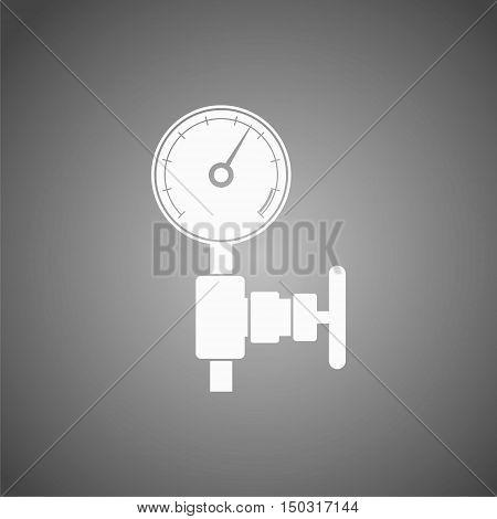 Manometer (pressure gauge) and vacuum gauge icon