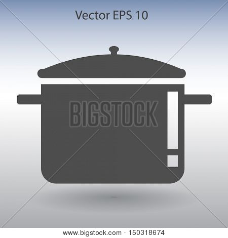 pot with lid vector illustration