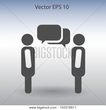dialogue human  vector icon