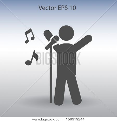 singer vector icon