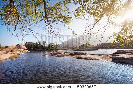 Beautiful Landscape Of Lake In The Desert