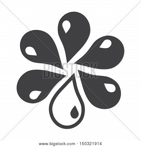 drops black simple icon on white background for web design