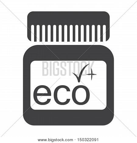 packaging black simple icon on white background for web design