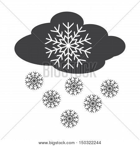 cloud black simple icon on white background for web design