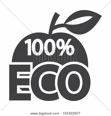 apple black simple icon on white background for web design