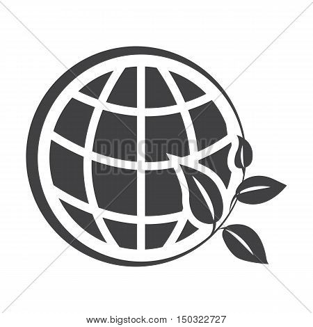 planet black simple icon on white background for web design