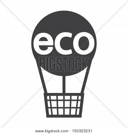 balloon black simple icon on white background for web design