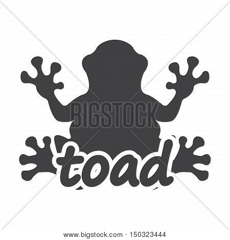 toad black simple icon on white background for web design