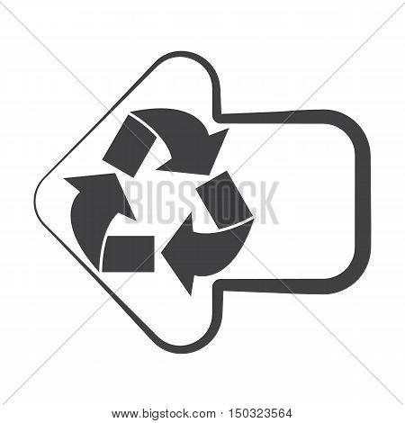arrow black simple icon on white background for web design