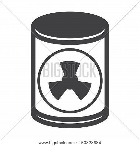 barrel black simple icon on white background for web design