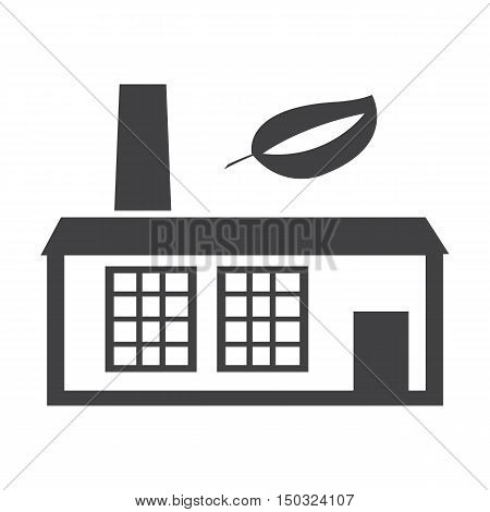 factory black simple icon on white background for web design