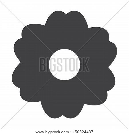 flower black simple icon on white background for web design