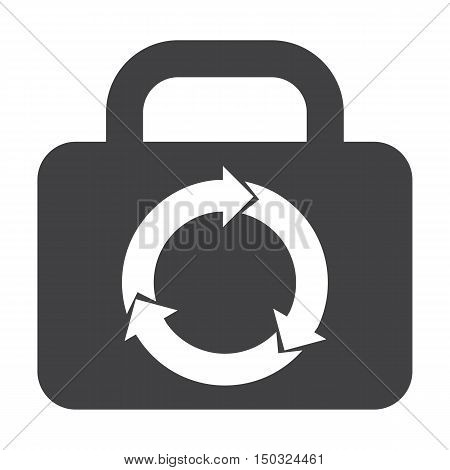 kofr black simple icon on white background for web design