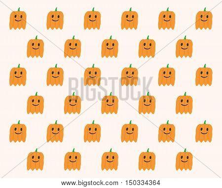 Phantom Pumpkins Halloween pattern design, vector illustration