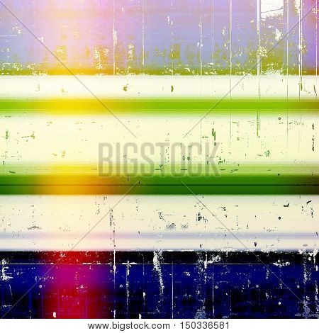 Retro colorful background or creative old style texture with different color patterns: yellow (beige); green; blue; red (orange); purple (violet); white
