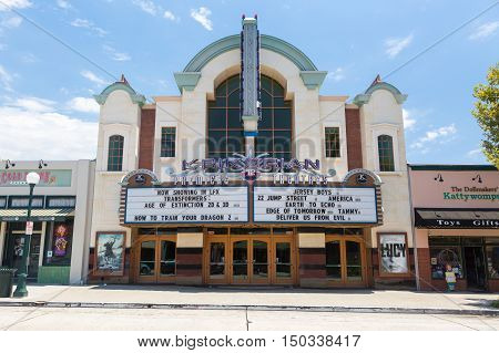 Los Angeles, USA - 6 July, 2014: The Krikorian Theater on S Myrtle Ave in Monrovia, Los Angeles, USA