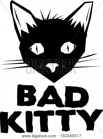 bad kitty drawing