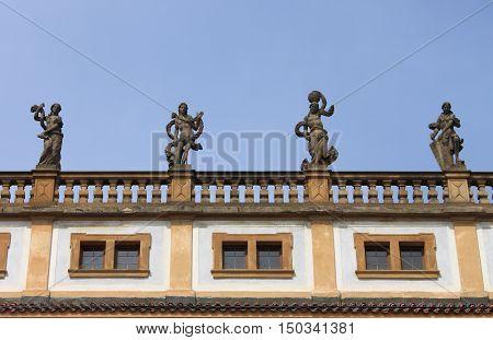 Renaissance style palace in Prague, Czech Republic