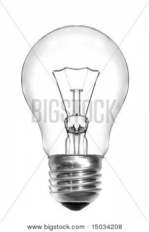 Bombilla de luz aislado en blanco