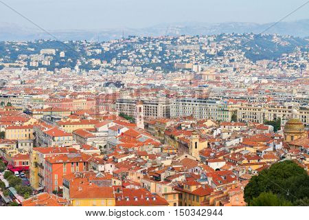 cityscape of Nice from above, cote dAzur France