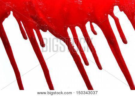 Set 8. Bloodstains On Isolated White Background