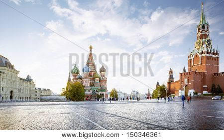 Panorama of Red Square in Moscow Russia