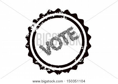 Vote stamp graphic isolated on white background