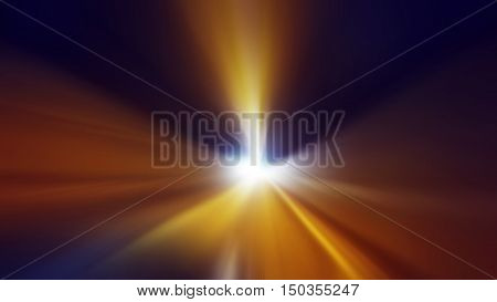 Abstract light background fast motion through tunnel with zoom effect