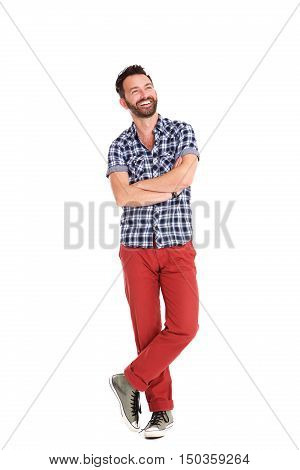 Handsome Mature Man Standing Relaxed