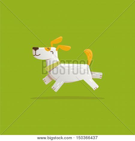 Vector Cartoon Illustration - Funny And Friendly Dog