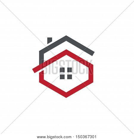 Letter G logo with real estate logo, letter G with roofing logo