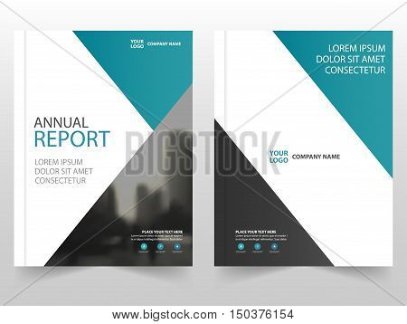 Blue Triangle annual report Leaflet Brochure Flyer template design book cover layout design abstract business presentation template a4 size design