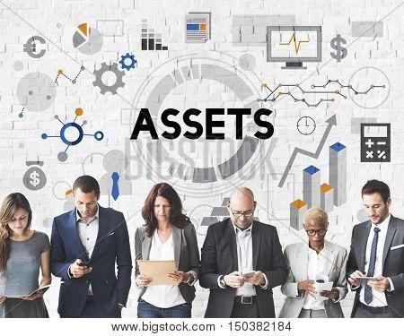 Assets Management Property Estate Finance Value Concept