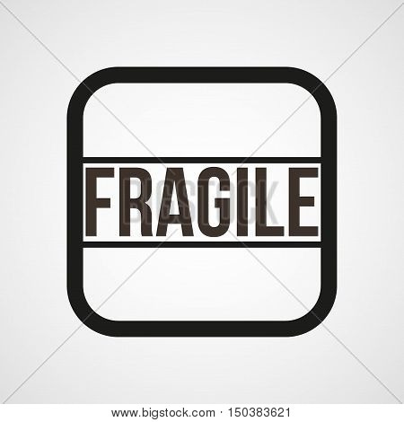 Fragile Icon Flat Simple Vector illustration Isolated