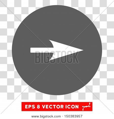 Arrow Axis X round icon. Vector EPS illustration style is flat iconic bicolor symbol, white and silver colors, transparent background.