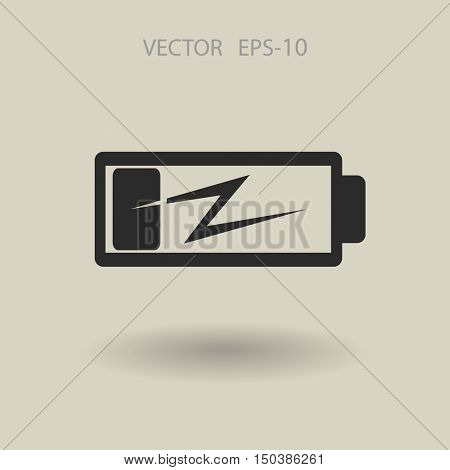 Flat battery low power icon