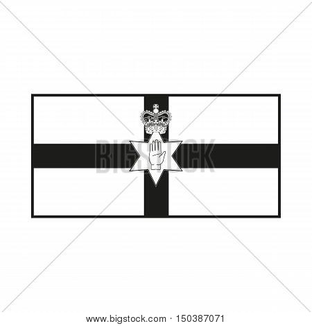 Northern Ireland flag Icon Created For Mobile Web Decor Print Products Applications. Black icon isolated on white background. Vector illustration.