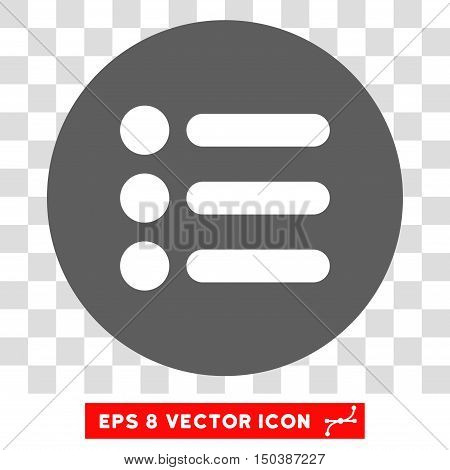 Items round icon. Vector EPS illustration style is flat iconic bicolor symbol, white and silver colors, transparent background.