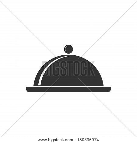 Food cover vector icon, Food Serving Tray Platter Icon