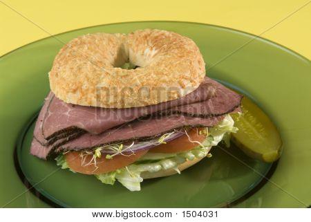 Bagel Sandwich de pastrami