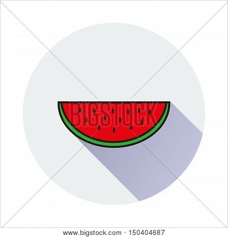 water melon simple icon on white background Created For Mobile Web Decor Print Products Applications. Vector illustration.
