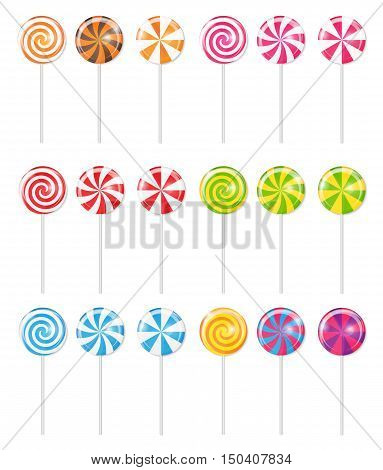 Realistic Sweet Lollipop Candy Background. Vector Illustration EPS10