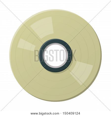 CD or DVD disk flat icon with long shadow for web design