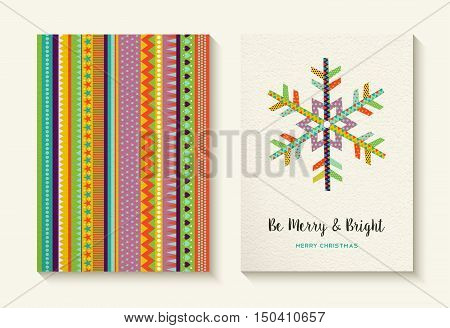 Christmas Snowflake And Colorful Background Set