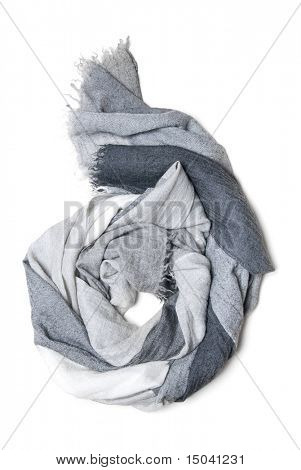 cashmere scarf isolated on white