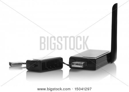 USB 3G modem isolated on white