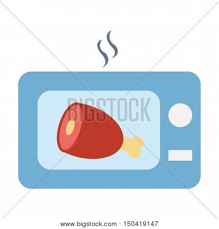 Ham flat icon. Illustration for web and mobile.