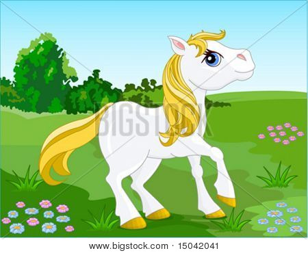 White Horse. Vector illustration