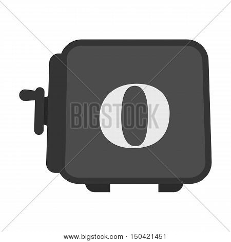 Strongbox flat icon. Illustration for web and mobile.